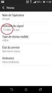 Mesurer signal GSM